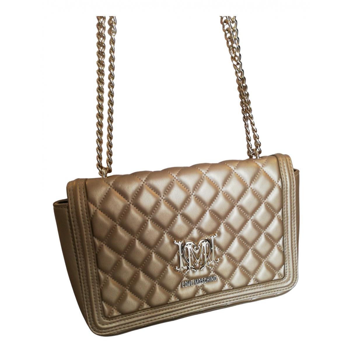 Moschino Love \N Gold Leather handbag for Women \N