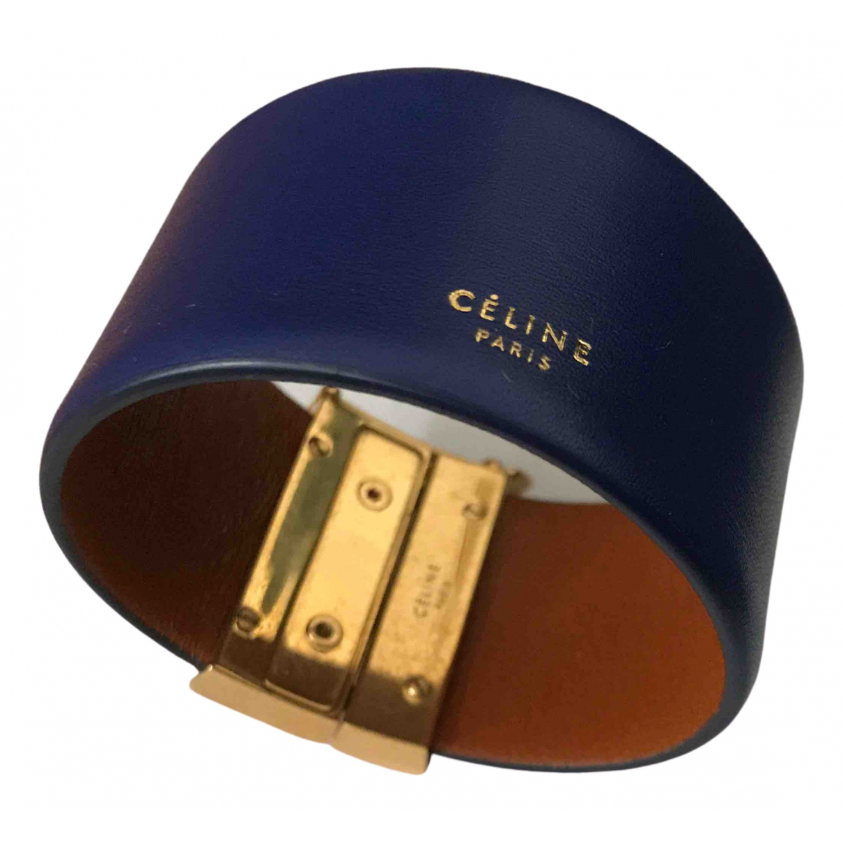Celine \N Armband in  Blau Leder