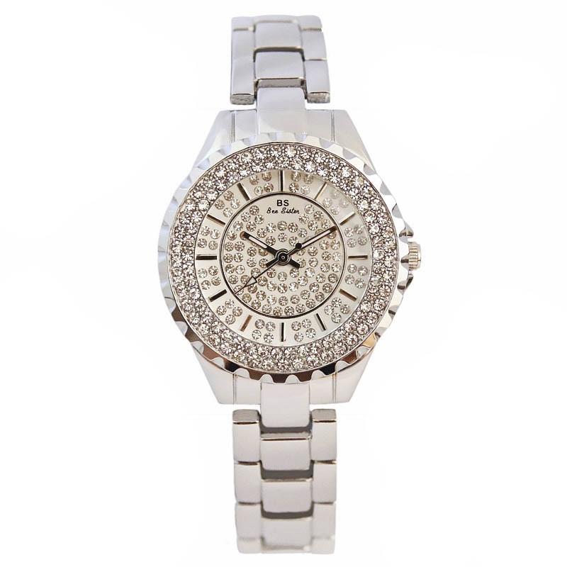 Ericdress Round Quartz Diamante Watch