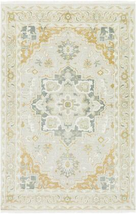 Elixir EXI-1002 9' x 13' Rectangle Traditional Rug in Khaki  Mustard  Sage  Butter