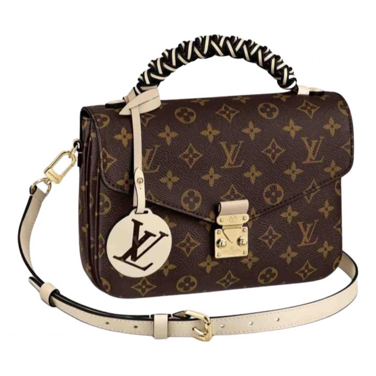 Louis Vuitton Metis Handtasche in  Braun Leinen