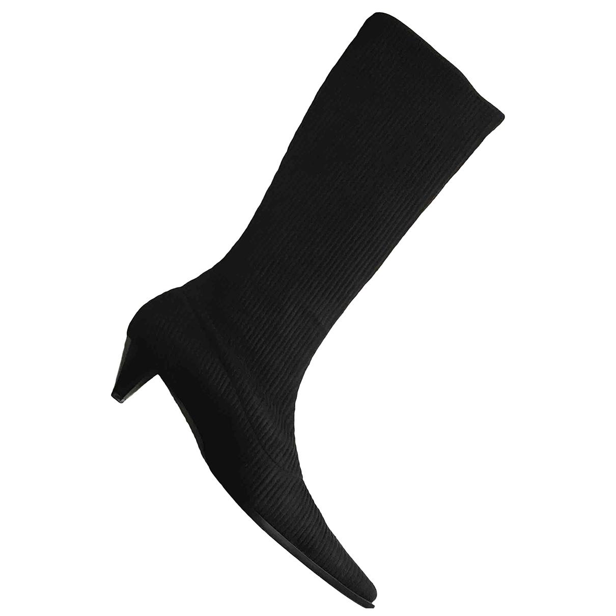 Pollini \N Stiefel in  Schwarz Leder