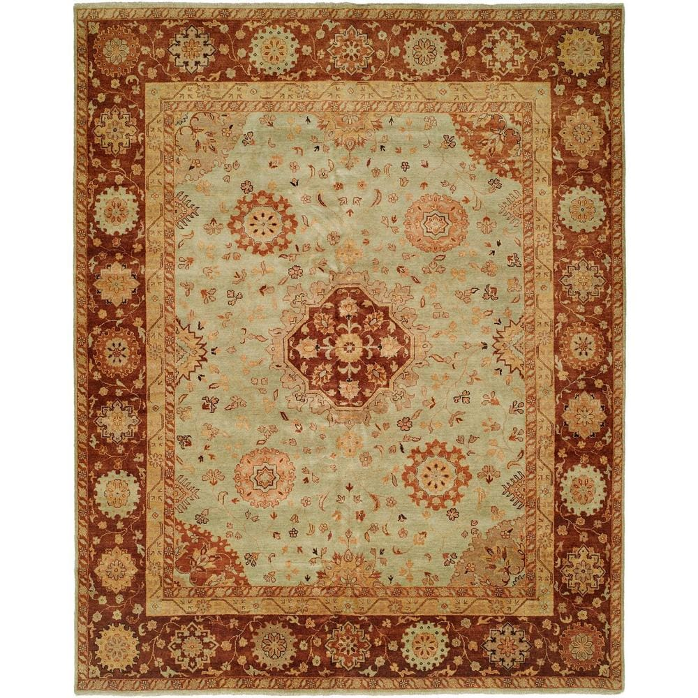 Antalya Pale Pistachio Wool Hand-knotted Area Rug (Pistachio 9 x 12)