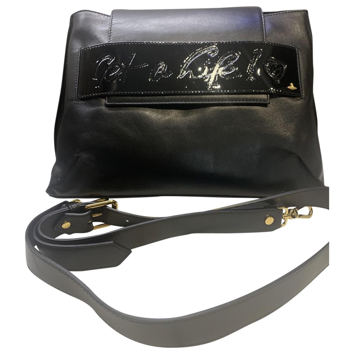 Vivienne Westwood \N Handtasche in  Schwarz Kalbsleder in Pony-Optik