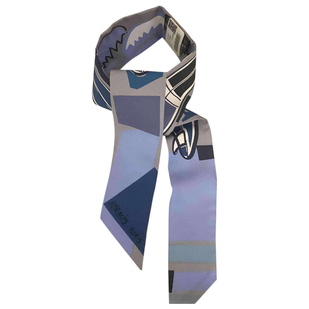 Hermès Twilly 86 Blue Silk scarf for Women N