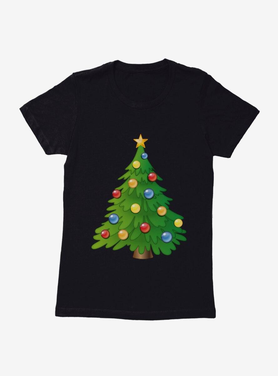 Emoji Holiday Icons Classic Tree Womens T-Shirt