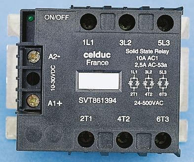 Celduc 95 A Solid State Relay, Zero Crossing, Panel Mount, Thyristor, 520 V ac Maximum Load