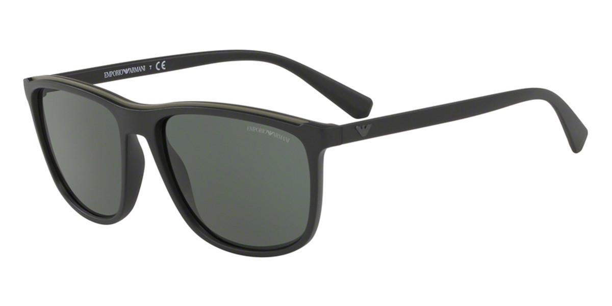 Emporio Armani EA4109 575671 Men's Sunglasses Black Size 57