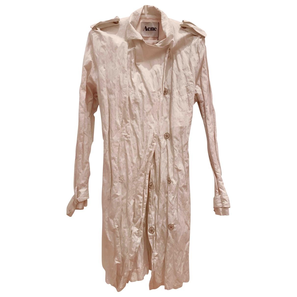 Acne Studios - Manteau   pour femme en coton - beige