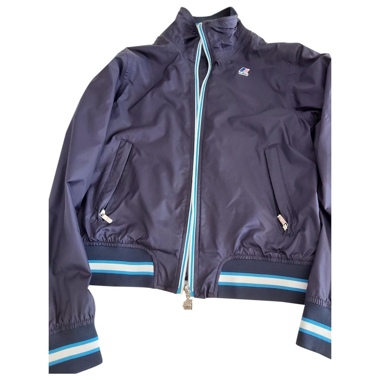 K-way - Blousons.Manteaux   pour enfant en coton - bleu