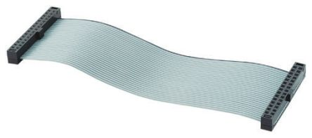 Samtec IDC Ribbon 200mm, 50 Way Male IDC to 50 Way Female IDC, Ribbon Cable Assembly
