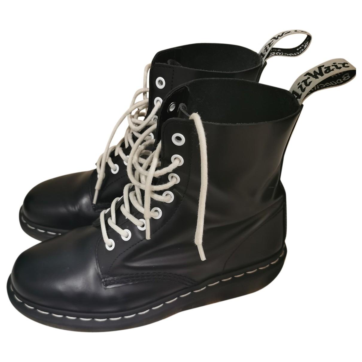 Dr. Martens - Boots   pour femme en cuir - noir