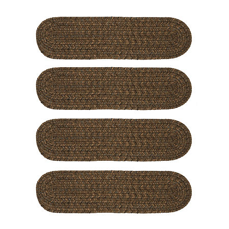 Colonial Mills Grafton Tweed Braided Oval Reversible Indoor Stair Treads, One Size , Multiple Colors