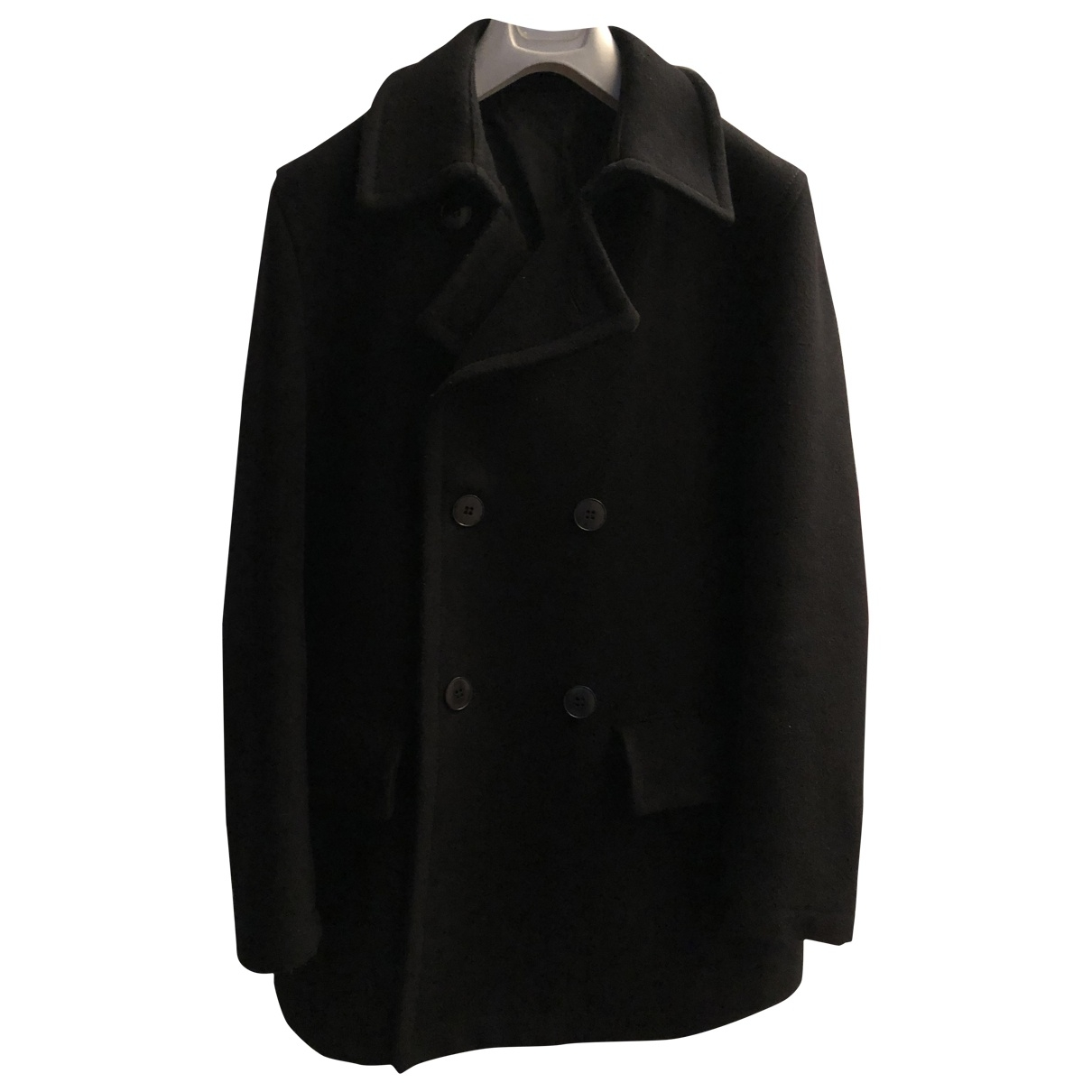 Maison Martin Margiela \N Black Wool coat  for Men 48 IT