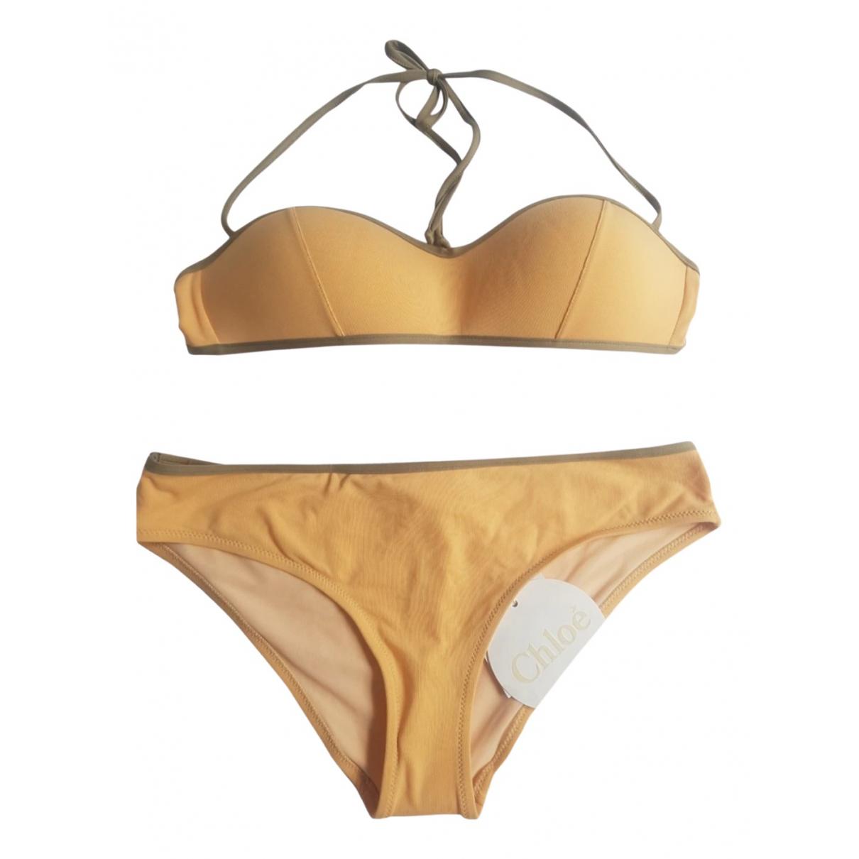 Chloe \N Badeanzug in  Gelb Synthetik