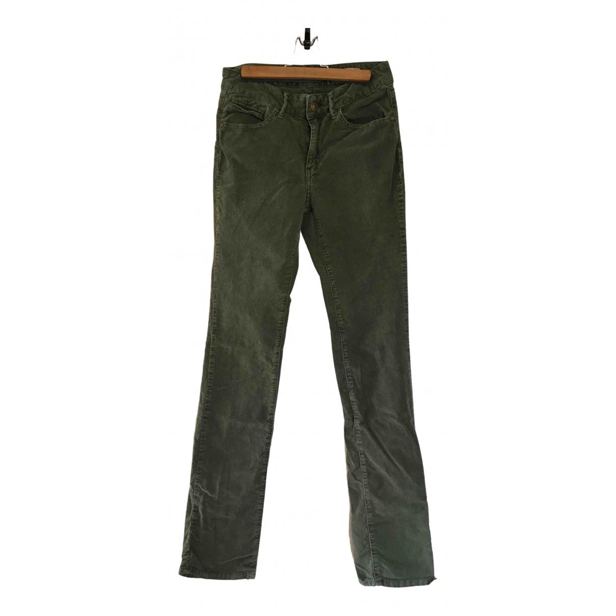 Pantalon recto de Terciopelo Berenice