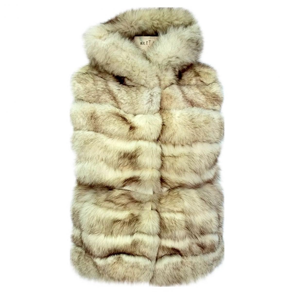 - Veste   pour femme en renard - blanc