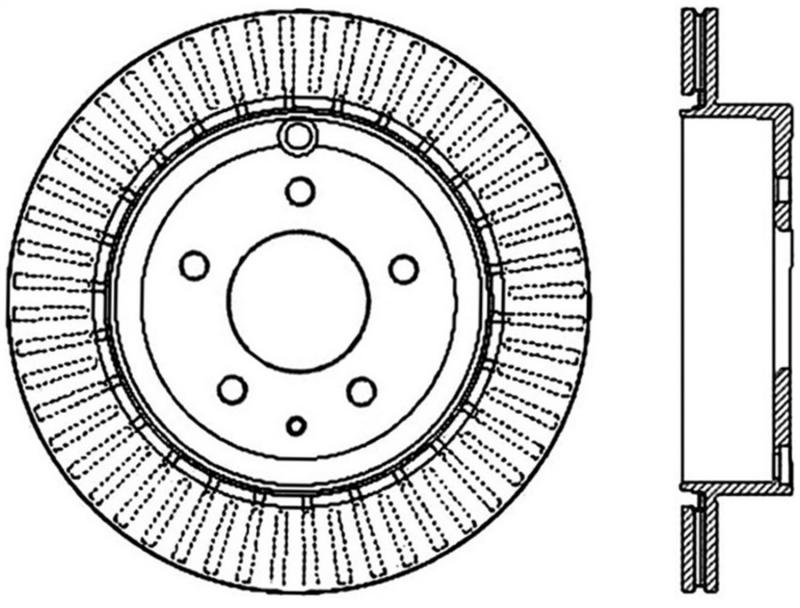 StopTech 126.66073SR Sport Slotted Brake Rotor; Rear Right Rear Right