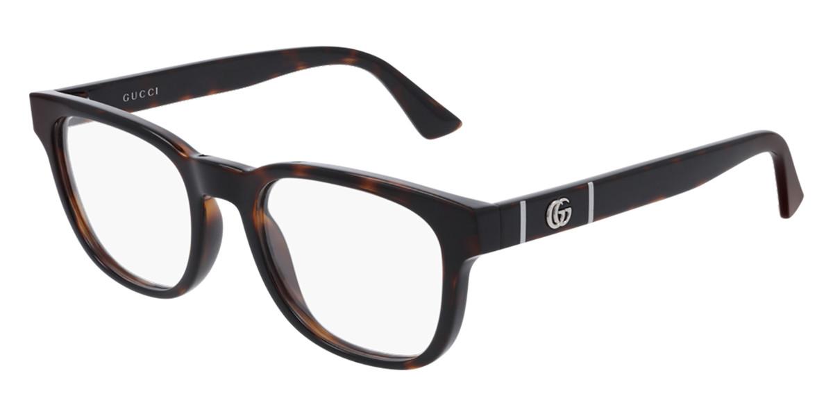 Gucci GG0764O 002 Women's Glasses Tortoise Size 51 - Free Lenses - HSA/FSA Insurance - Blue Light Block Available