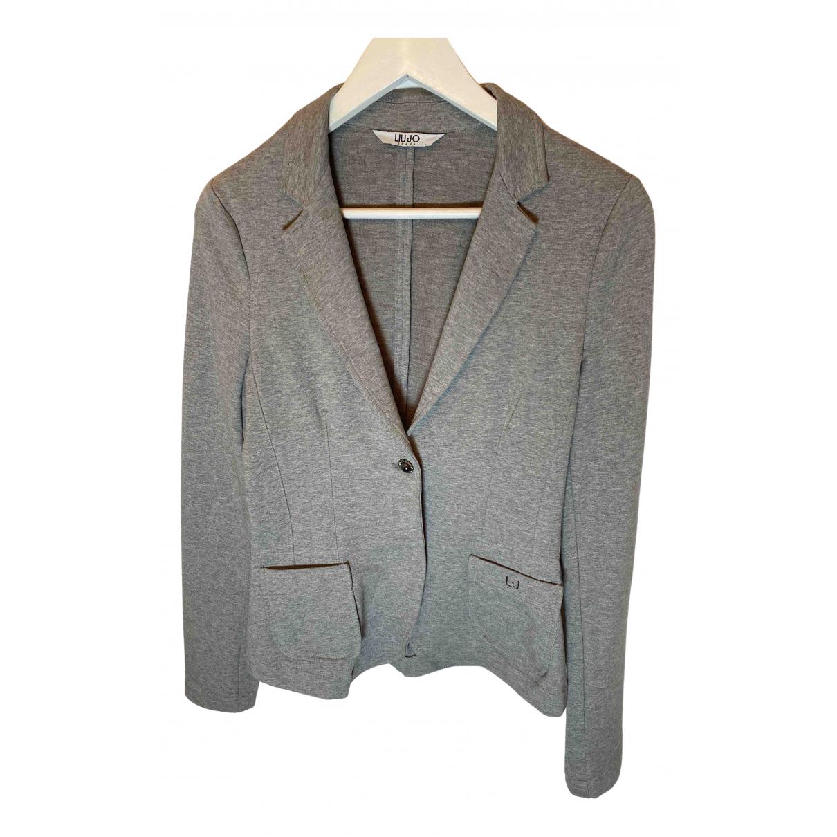 Liu.jo - Veste   pour femme en coton - gris