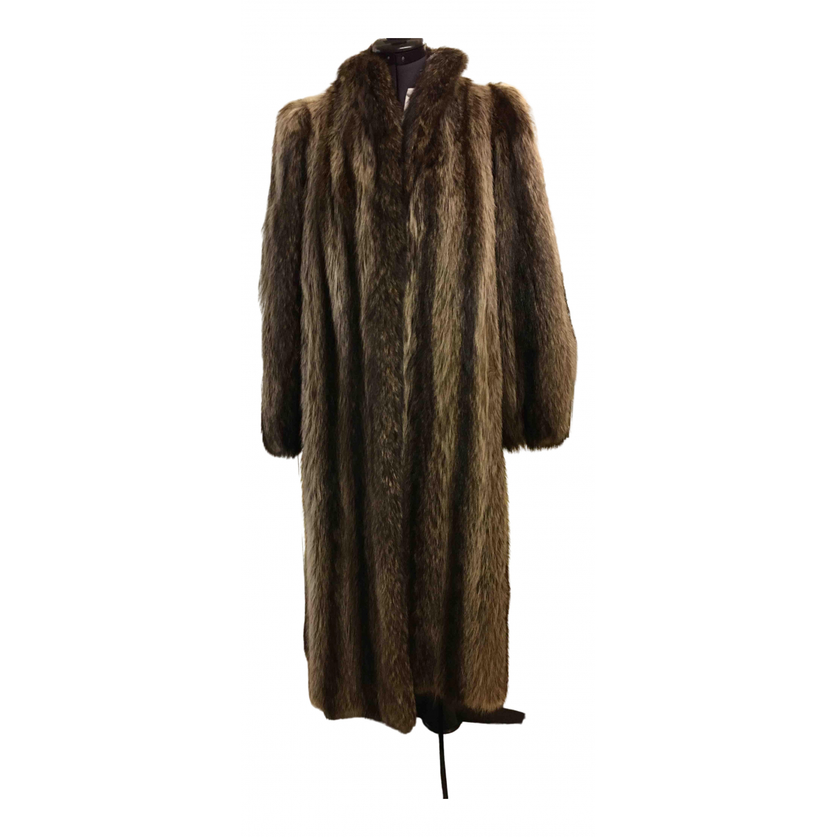 Non Signé / Unsigned \N Anthracite Chinchilla coat for Women 40 FR
