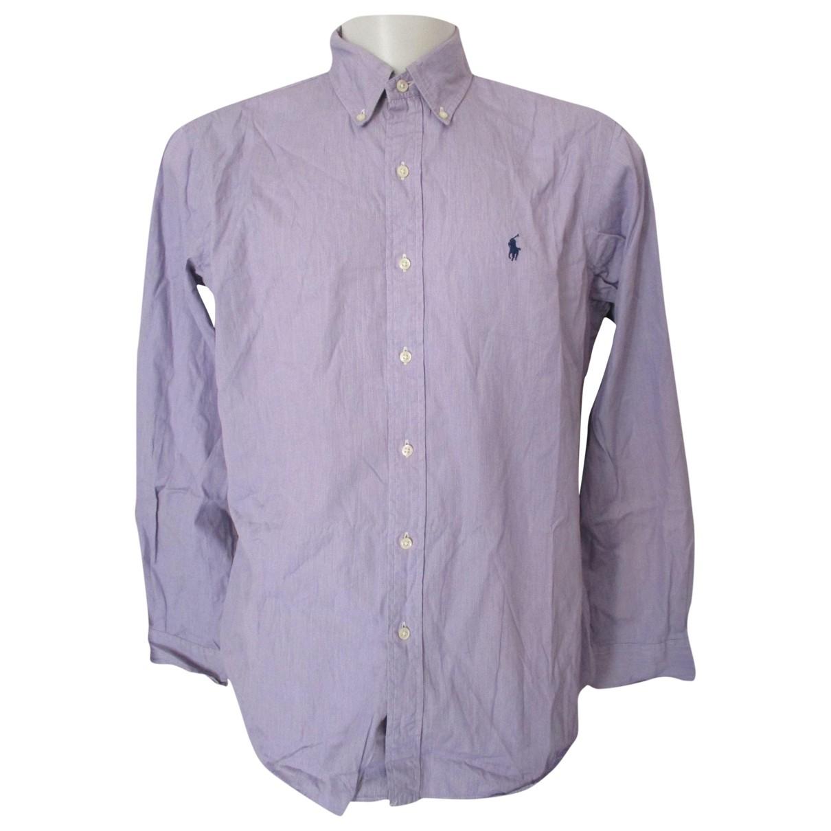 Ralph Lauren \N Purple Cotton Shirts for Men 16.5 UK - US (tour de cou / collar)