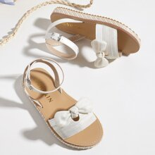 Toddler Girls Bow Decor Ankle Strap Sandals