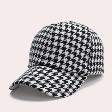 Houndstooth Pattern Baseball Cap