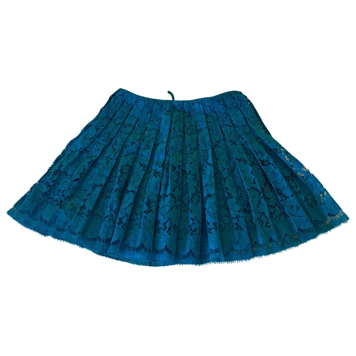 Prada \N Blue Cotton skirt for Women 38 IT