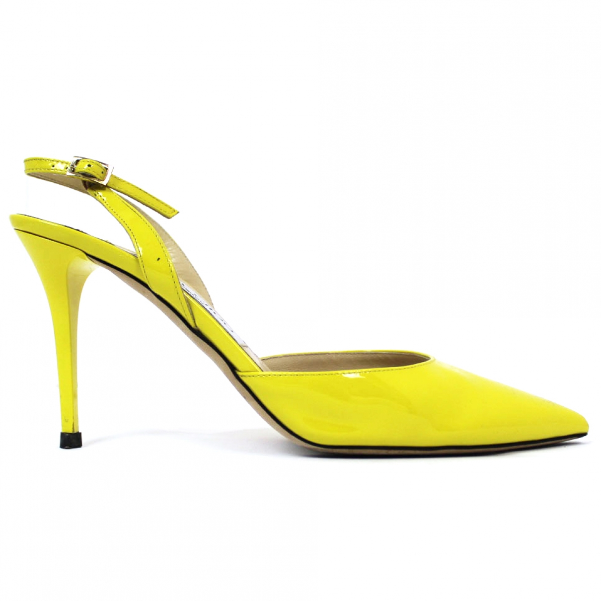 Jimmy Choo \N Yellow Patent leather Heels for Women 38.5 EU