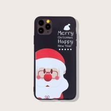 iPhone Schutzhuelle mit Weihnachtsmann Muster