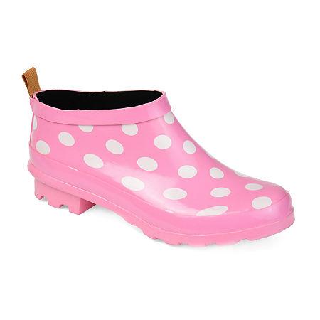 Journee Collection Womens Rainer Rain Boots, 8 1/2 Medium, Pink