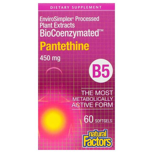 BioCoenzymated Pantethine 60 Softgels by Natural Factors