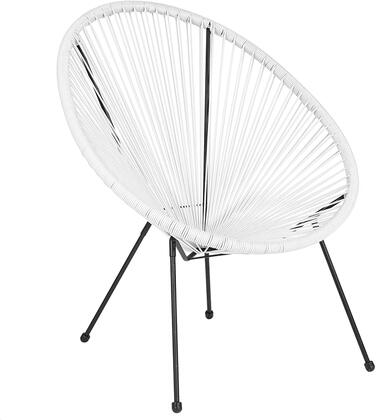TLH-094-WHITE-GG Valencia Oval Comfort Series Take Ten White Rattan Lounge