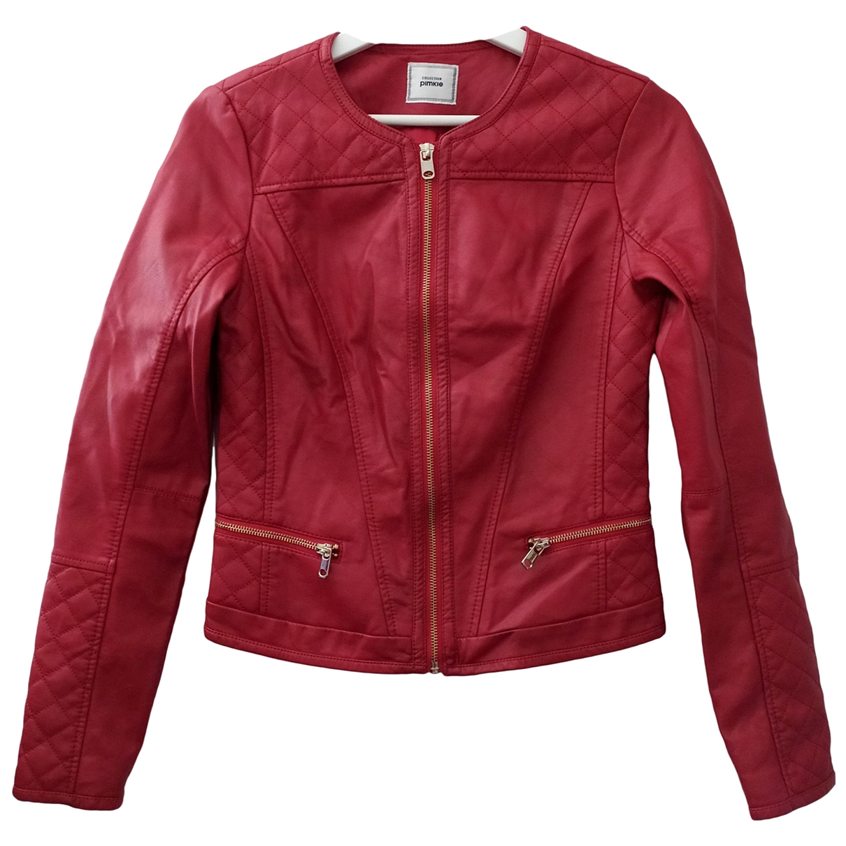 Non Signé / Unsigned \N Red Leather jacket for Women S International