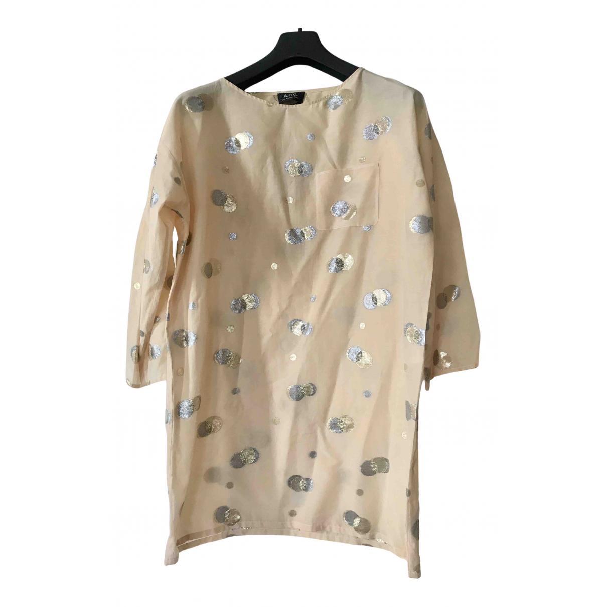 Apc \N Beige Cotton dress for Women 38 FR