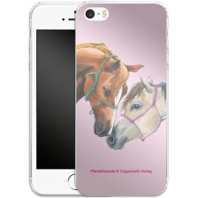 Apple iPhone 5s Silikon Handyhuelle - Pferdefreunde Freundschaft von Pferdefreunde