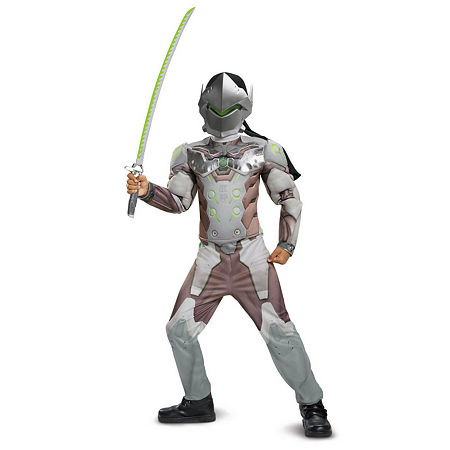 Overwatch Genji Classic Muscle Child Costume Costume, Small , Multiple Colors