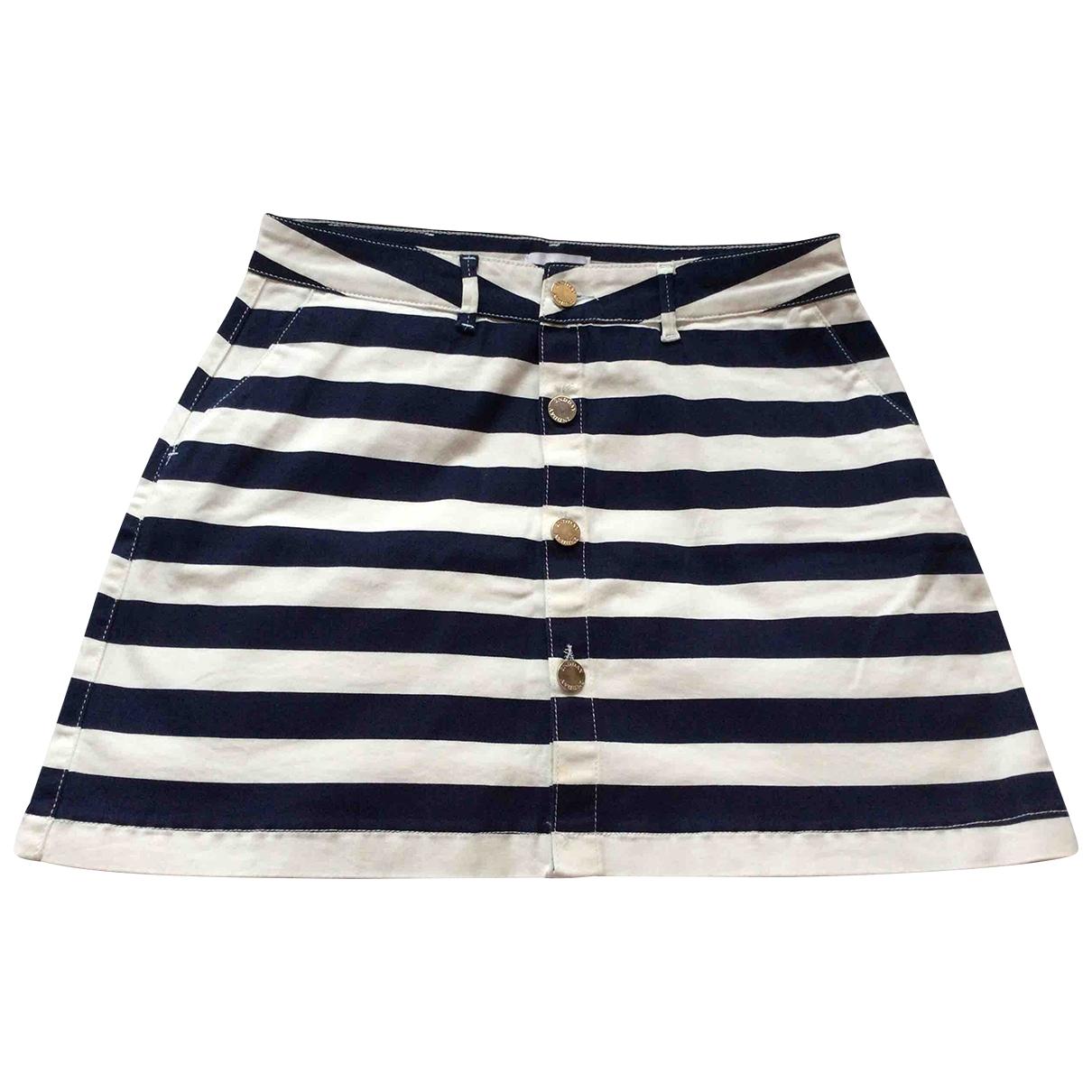 2nd Day - Jupe   pour femme en coton - elasthane - marine