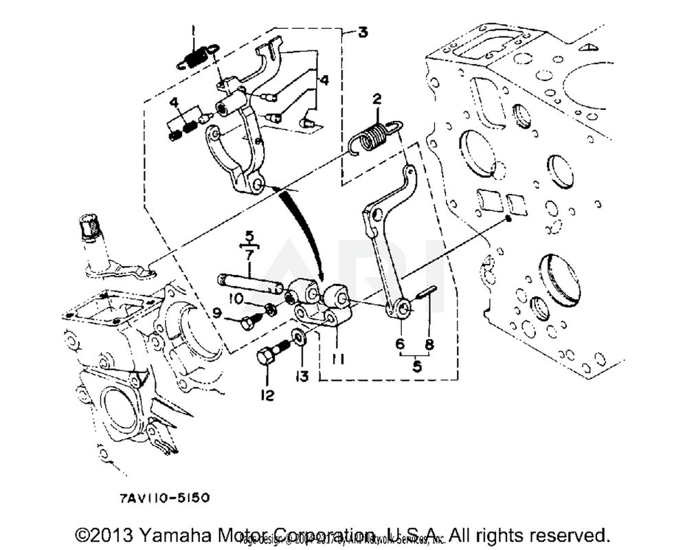 Yamaha OEM YF1-58415-64-80 SPRING, START