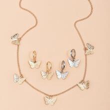 5pcs Butterfly Decor Jewelry Set