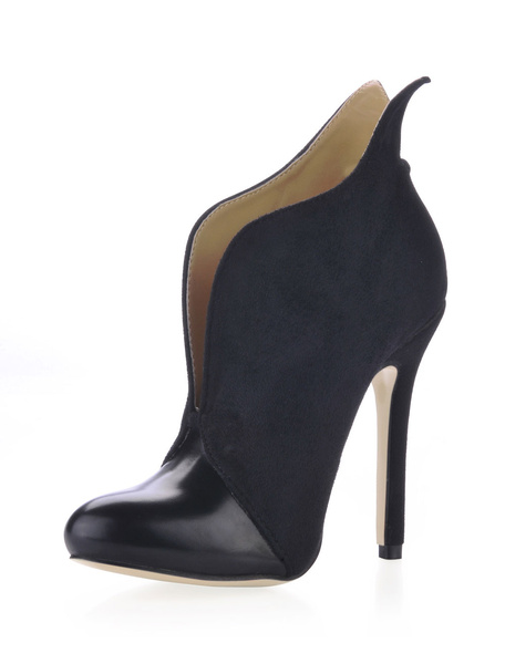 Milanoo Black Cut Out High Heel Booties