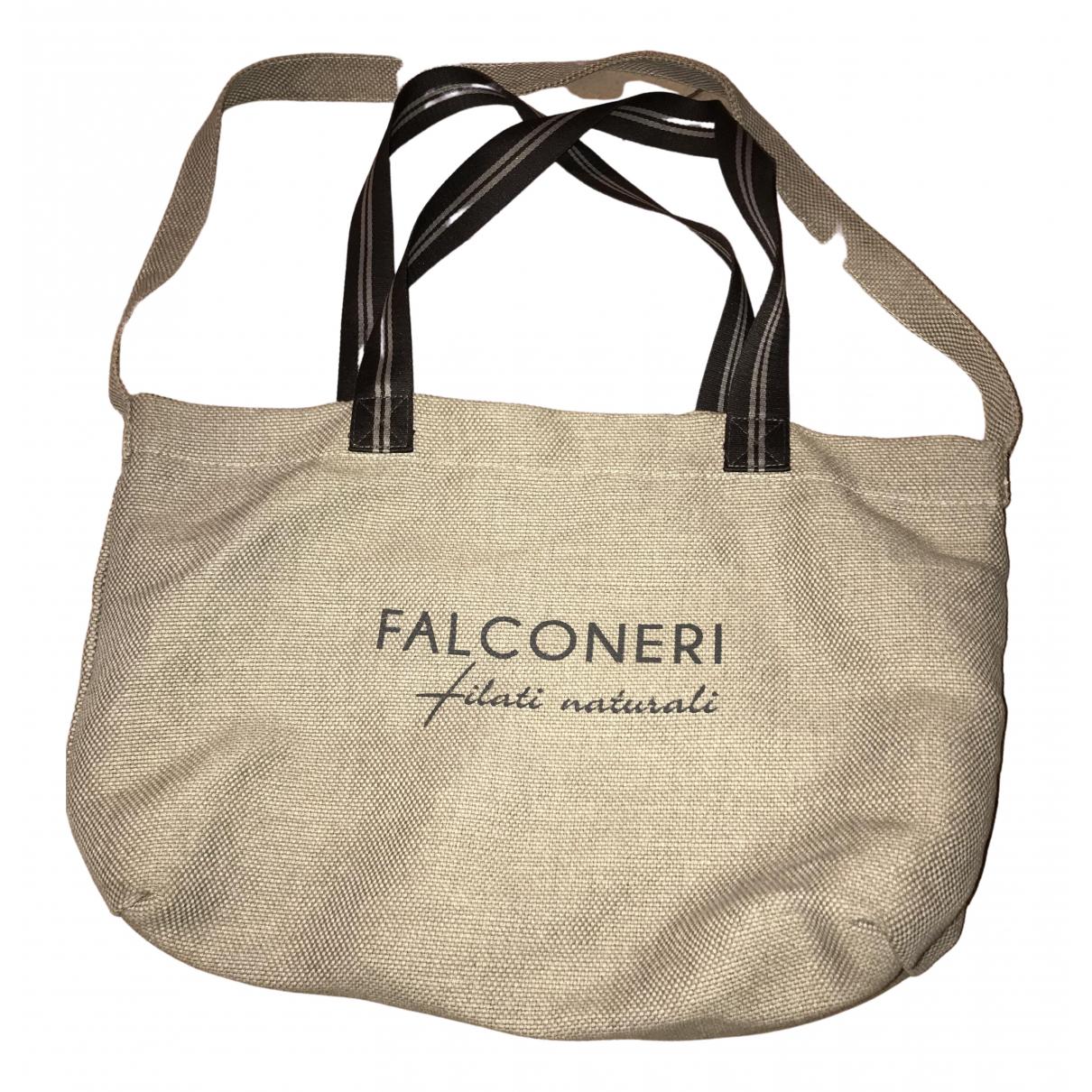Falconeri \N Handtasche in  Bordeauxrot Leinen