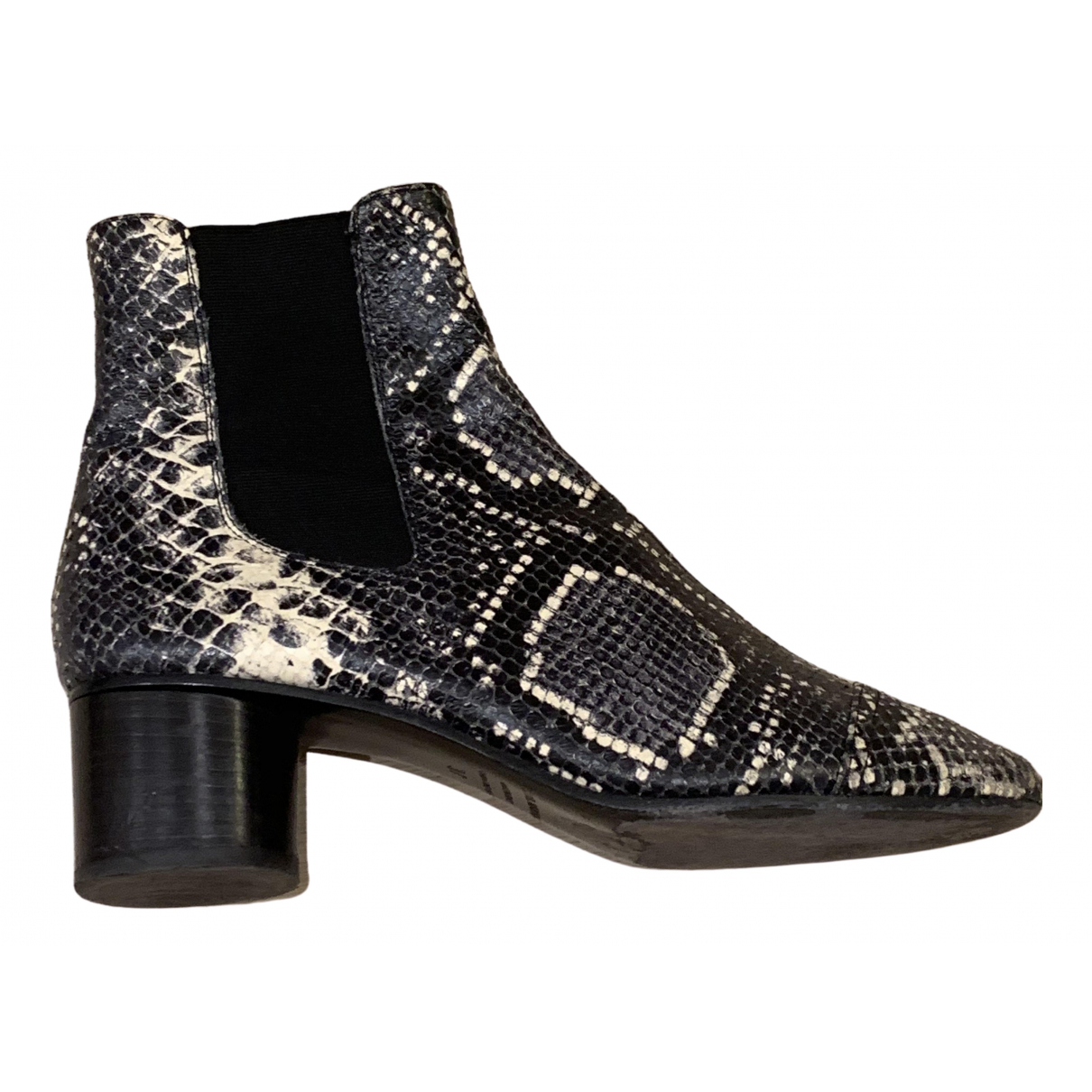 Isabel Marant \N Navy Leather Ankle boots for Women 37 EU