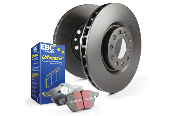 EBC Brakes S20K1371 S20K Front/REAR Disc Brake Pad and Rotor Kit UD465+RK7605+UD537+RK7345 Honda Civic Front 2012 1.8L 4-Cyl
