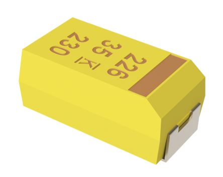 KEMET Tantalum Capacitor 220nF 35V dc MnO2 Solid ±10% Tolerance , T491 (10)