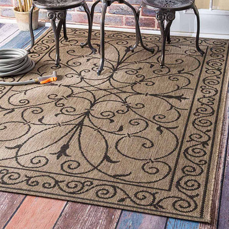 nuLoom Kathleen Outdoor Krem Rug, One Size , Brown