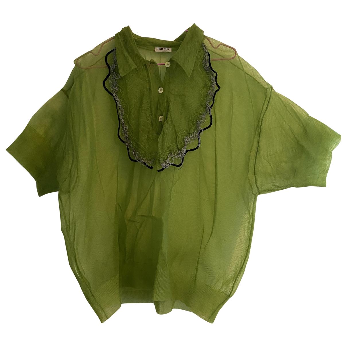 Miu Miu \N Green  top for Women 38 IT