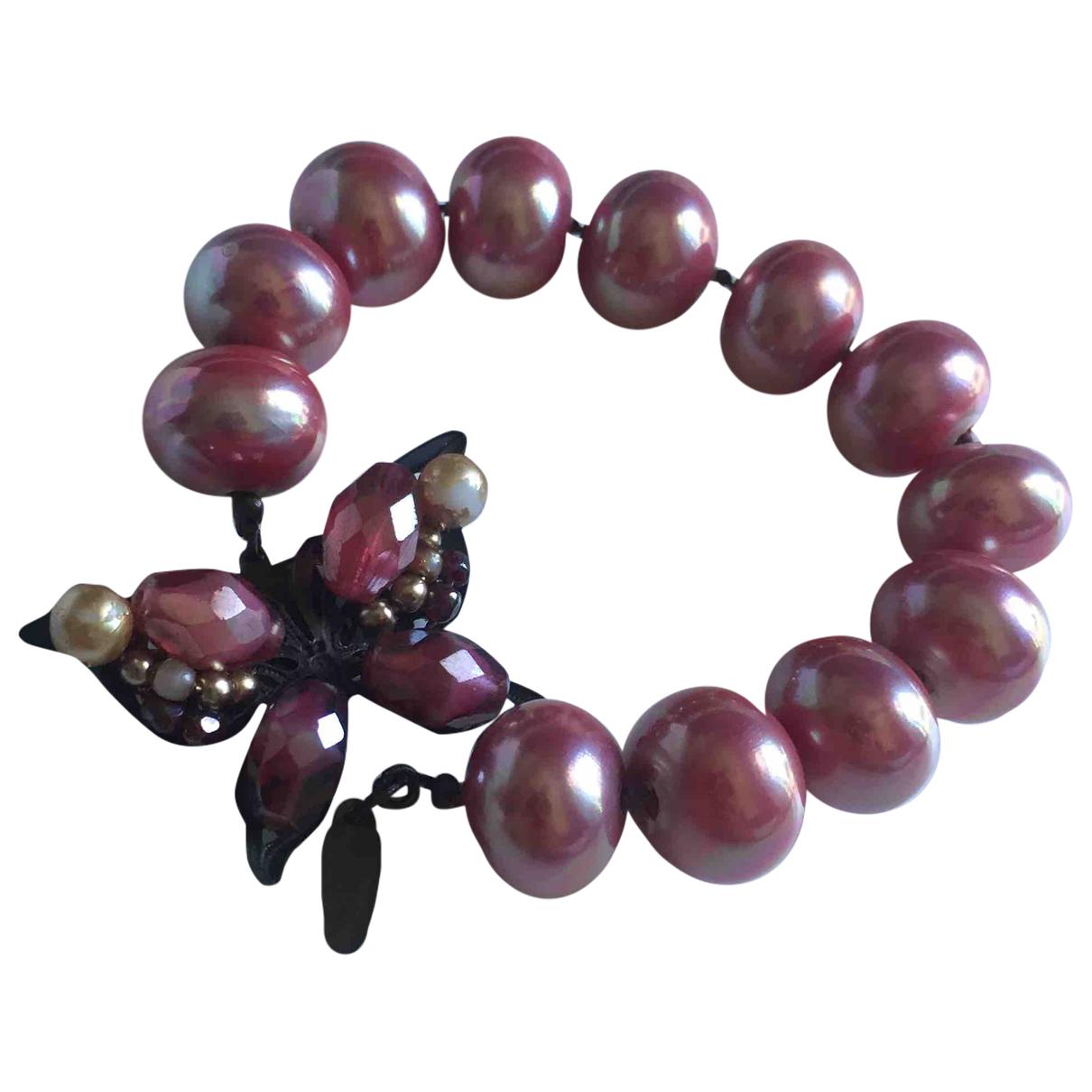 Furla - Bracelet   pour femme en metal - rose