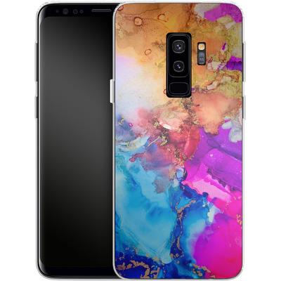 Samsung Galaxy S9 Plus Silikon Handyhuelle - Cosmic Swirl III von Stella Lightheart
